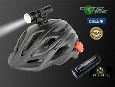 Opticfire High power CREE LED T6-ZOOM helmet mount light head torch bike lights