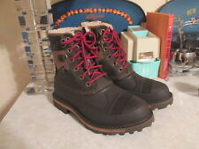 Woolrich Men Boots Fully Wooly Lace-up Boot Java size US 8 WM5100-202