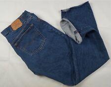 Rare Vintage LEVI STRAUSS & CO Selvedge Button Fly Denim Jeans 90s Blue SZ 42x38