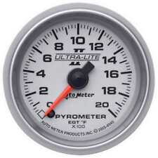 "Auto Meter Boost/Pyrometer Gauge 4945; Ultra-Lite II Kit 2000°F 2-1/16"" Electric"