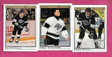 1990-91 OPC PREMIER KINGS GRETZKY + ROBITAILLE + BERTHIAUME   (INV# C4476)