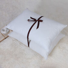 2 pack 100% Egyptian Cotton Goose Feather filled Pillows 600TC Queen Size White
