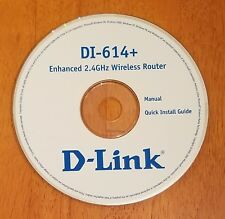 D-Link DI-614+ Enhanced 2.4GHz Wireless Router CD Software Manual Install Guide