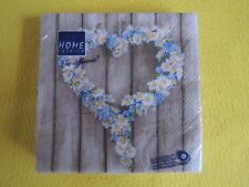 20 Servietten Gänseblümchen Herz 1 Packung OVP Daisy Holz Hearts Home Fashion