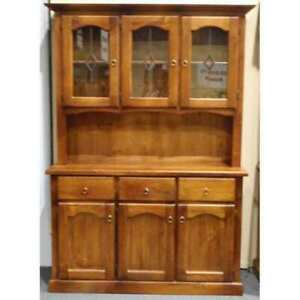 Victoria 3 Door 3 Drawer Buffet and Hutch
