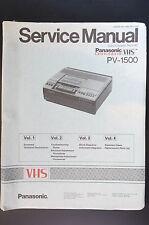 Panasonic PV-1500 Vol.1-vol.4 Original Manual de Servicio/Manual/Diagrama