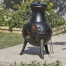 🔥Diogo Blooma Steel Chiminea🔥Garden Patio Heater Small Chimenea Log Burner