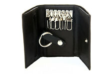 Genuine Leather Men's Key Holder Accessory 6 Key Chain Wallet Case Black