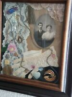 Victorian Shadow Box - VTG Framed Art - Wedding/Anniversary Memorabilia