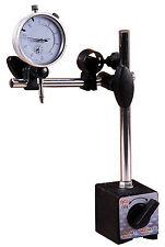 Messuhrhalter Magnetstativ Magnet Messstativ mit Meßuhr Messuhr 10 / 0,01 mm NEU