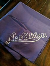 "1984 Purple New Edition Band with Bobby Brown Bandana Scarf - 20"" x 20"""
