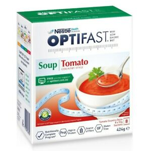 Optifast VLCD Tomato Soup 8 x 53g Sachets (424g) Low Calorie Meal Replacement