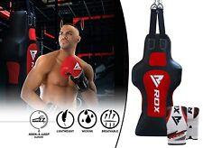 Rdx Heavy Punching Bag Punch Dummy Torso Grappling Body Slam Mitts Boxing Gloves