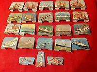 """20 Ancienne Plaques métal Litho collection """"Huilor"""" Collection Bateau"""