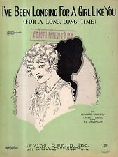 1927 I've been longing for a girl like you by howard Johnson, Chas Tobis,Sherman