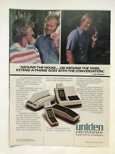 Uniden Phone with Jack Nicklaus Vintage 1982 Print Ad