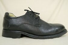 Belvedere Bay Bridge Black Pebble Leather Split Toe Oxfords Shoes Mens Size 11 D
