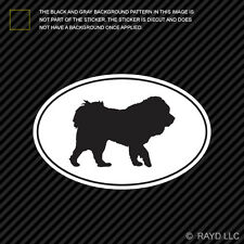 Tibetan Mastiff Euro Oval Sticker Die Cut Decal Adhesive Vinyl dog canine pet