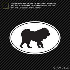 Tibetan Mastiff Euro Oval Sticker Die Cut Decal Adhesive Vinyl dog canine pet