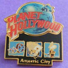 Planet Hollywood ATLANTIC CITY Boardwalk with Classic Globe Lapel Pin NEW