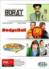 Borat / Dude, Where's My Car? / Dodgeball  DVD New/Sealed Region 4