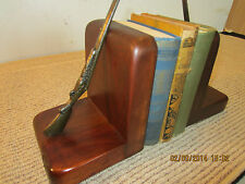 PR OF HUNTER'S, MINIATURE RIFLE WOOD BOOKENDS