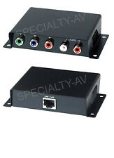 NEW HD Component Video L/R Stereo Analog Audio RCA Balun Extender Kit 1080i/p