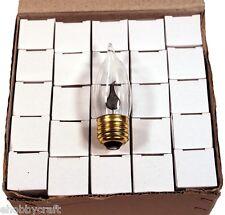 Flickering Flame Light Bulbs ~Standard (E26 Medium) Base #10J ~Box of 25 Bulbs~