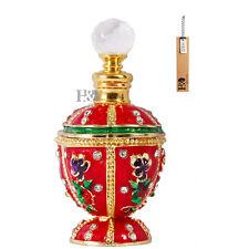 Handmade Vintage Flower crystal Perfume Bottle Empty Refillable Wedding Gift 8ml