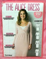 Uncut Simply Sewing Misses Sz 4-18 Gathered Waist Surplice Alice Dress Pattern
