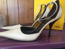 Authentic FENDI  High Heel Pointy  Womens Size 37.5