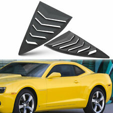 Quarter Side Window Scoop Louvers Cover for Chevy Camaro LS LT RS SS GTS 2010~15