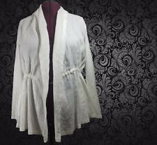 Lafayette 148 NY White Linen Tie Waist Pocket Jacket Coat XL NEW