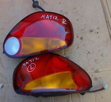 104-1297 DAEWOO MATIZ MODEL 1999 05 PAIR TAIL LIGHTS LEFT RIGHT USED