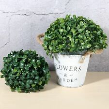 Plastic Artificial Patio Home Decor Plant Ball Boxwood Topiary Tree Ornament