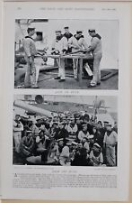 1896 BOER WAR ERA MARINES SAILORS ON & OFF DUTY ON BOARD