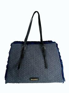 New Jessica Simpson Satchel Bag Blue/Black Color W/Adjustable Handle Strap