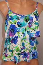 NWT Caribbean Joe Swimsuit Tankini Bikini Top Multi Color