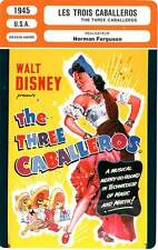 FICHE CINEMA : LES TROIS CABALLEROS - Disney,Ferguson 1945 The Three Caballeros