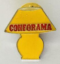 Conforama Lamp Design Advertising Pin Badge Rare Vintage (C18)