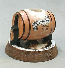 Vintage Whitbread's Beer Ceramic Advertising Match Holder & Ash Tray