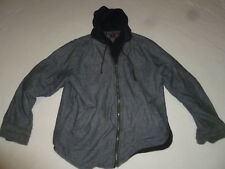 TONY HAWK CHARCOAL GREY MENS ZIP FRONT JACKET SIZE XL SOFT SHELL HOODIE LINED >>