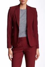 NWT Theory Gabe N Cherrywood Virgin Wool Notch Collar One Button Blazer Jacket 2