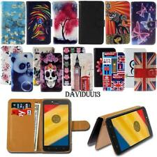 Leather Smart Stand Wallet Case Cover For Various Motorola Moto E SeriesPhones