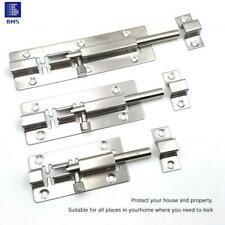 "3/4/5/6/8"" Long Silver Stainless Steel Safety Door Latch Lock Bolt Gate Lock UK"