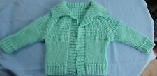 BABY HAND KNITTED, GREEN SUIT NEW BORN TO 3 MONTH OLD (23)