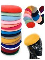 Quality Round Sinamay Felt Fascinator Base Pillbox Hat DIY Supplies Wholesale UK