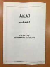 ORIGINAL SERVICE SCHEMATIC & DIAGRAM AKAI EA-A7 STEREO EQUALIZER D324