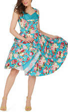'Aura' Classic  Divinty Vintage 50's Full Circle Floral Rockabilly Swing Dress