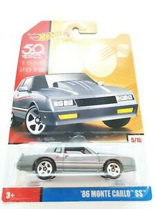 Hot Wheels Mattel Toy collect Diecast Model 50th annivesary 86' Monte Carlo SS